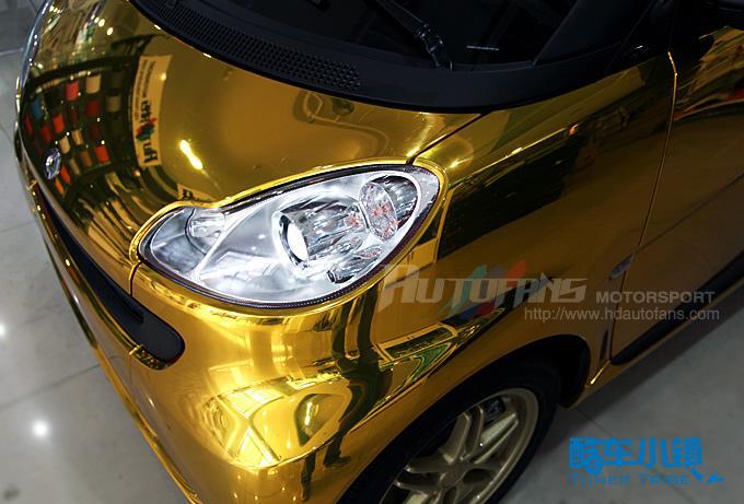车迷店高平整电镀金改装smart 高清图片