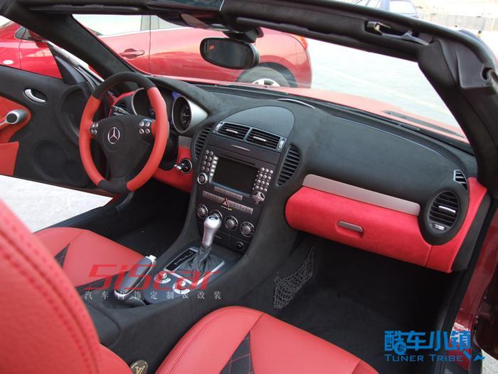 改装完成了,slk200重装上阵 5i5car内饰改装 奔驰高清图片
