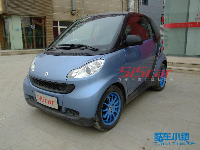 5i5car蓝色内饰改装smart 高清图片