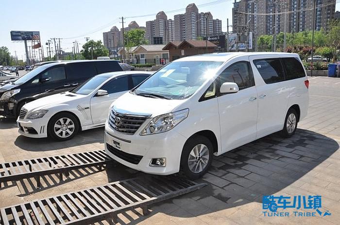 丰田埃尔法商务车改装香港版包围北京现车高清图片