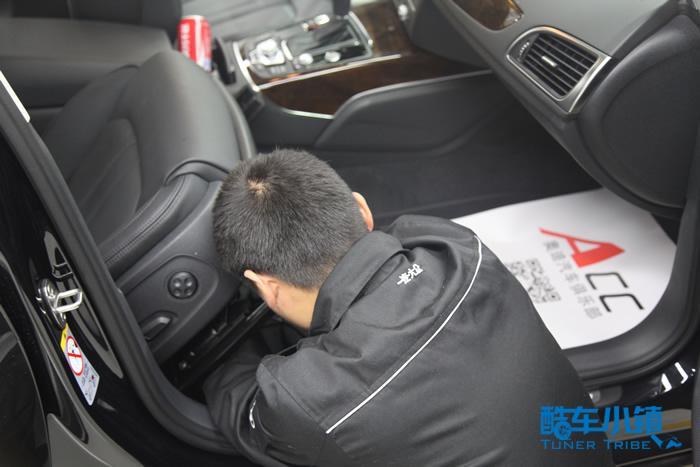 奥迪a4副驾座椅电路图